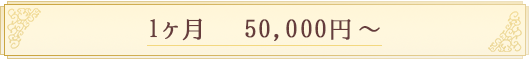 1ヶ月50,000円~